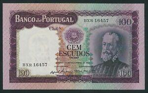 PORTUGAL RARE 100 ESCUDOS 1961    P-165  GEM UNC