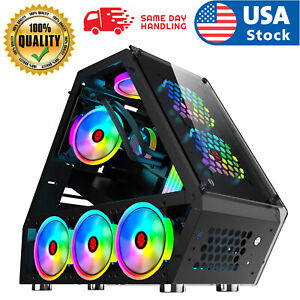Micro ATX Computer Gaming Case Tempered Glass Gaming Computer Special-Shaped