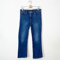 J Crew Mercanitle Blue High Rise Flare Crop Jeans Womens Size 28