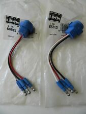 (2) 66815 Grote PAIR of Stop Tail Turn Three Wire Plug In Pigtails Male Pin Lamp