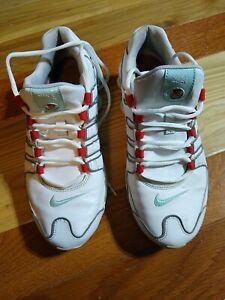 Nike Shox NZ White Mint Red Women's Run Shoes 314561-113 Size 9