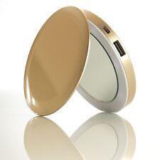 New NIB Sanho HyperJuice Pearl Compact Lit Makeup Mirror Battery Pack - GOLD