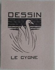 Lot de 5 anciens cahiers de dessin neufs à carreaux Le Cygne Format 22 x 17 cms