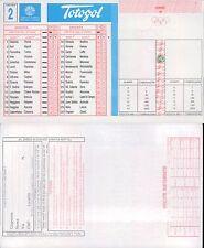 TOTOGOL  SECONDA  USCITA DELLA SCHEDA A 30 PARTITE  DEL CONC. N.2  27 08 1995
