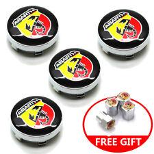 "4x 2.36"" 60mm Car Emblem Badge Wheel Hub Caps Centre Cover Fit ABARTH Free Gift"