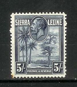 SIERRA   LEONE   GEORGE   V   FIVE   SHILLING  MH*