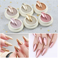 Mirror Effect Nail Glitter Powder Rose Gold Series Nail Art Pigment Decoration