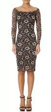 Forever Unique Black Gold TRUDIE Lace Dress - BNWT £170 - Size 12