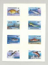 Grenada Grenadines #887-896 Capex 87, Fish 8v & 2v S/S Chromalin Proofs on Cards