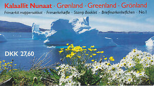 Greenland Sc 91a, 130a in 1989 Unexploded Booklet, 2 Panes of 10, VF