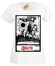 Death Tarot Card T-Shirt Womens Goth Rock Grim Reaper gothic ladies