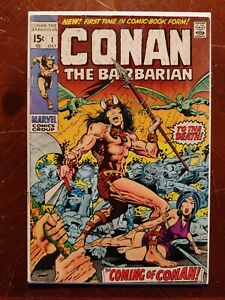 Conan The Barbarian #1 (1970) First Appearance Key Vintage Silver Age Comic Book