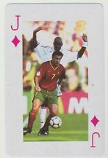 Football World Cup 2006 Playing Card single - Luis Figo - Portugal Real Madrid