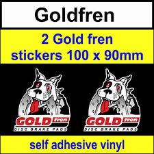 2 Gold Fren sponsor stickers Goldfren scooter bike motorcycles car decals