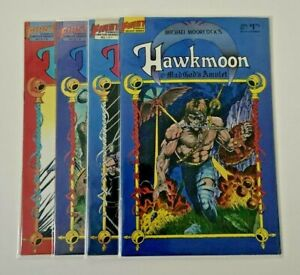 HAWKMOON : THE MAD GOD'S AMULET 1-4 (1987) FIRST COMICS COMPLETE SET - MOORCOCK