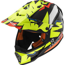 NEW LS2 MX437 ISAAC VINALES REPLICA, SIZE LARGE, HI VIS YELLOW / RED RRP £99.99