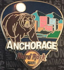 "Hard Rock Cafe ANCHORAGE 2017 ""GREETINGS FROM"" Series PIN Guitar Pick BEAR"