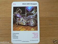 EASY RIDER 4C BSA 500 CHOPPER  KWARTET KAART, QUARTETT CARD,SPIELKARTE