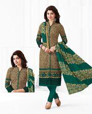 Indian Shalwar Kameez Cotton Dress Material Unstitched Suit D.No BLR1021