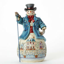 Jim Shore Winter Wonderland Snowman Figurine ~ Believe in Holiday Magic 4041074