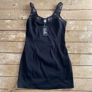 BNWT Versace Jeans Couture Dress Black Large Vtg 90's IT 46 UK 14