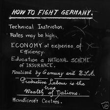 Glass Magic Lantern Slide HOW TO FIGHT GERMANY WW1  INFORMATION NOTICE