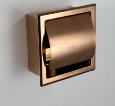 Rose Gold Wall Mounted Waterproof Toilet Roll Paper Tissue Box Holder Stainless