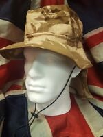 Desert Camouflage Bush Hat British Army Boonie Camo Sun Cap Military Surplus UK