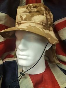 Desert Camouflage Bush Hat British Army Boonie Camo Sun Cap Military Surplus UK