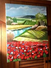Original- One of a Kind- Oil on Canvas Painting-Tuscany- Signed-COA-Listed Art