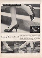 Vintage advertising print ad FASHION Red Cross Shoes Heels Knickerbocker 1956