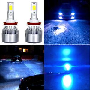 2PC H11 H9 LED Headlight Bulb Kit Low Beam Fog Light 8000K 16000LM 60W ICE BLUE