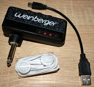 Mini- Taschen- Gitarren- Verstärker Amp Weinberger USB, Klinke, Phone, aufladbar