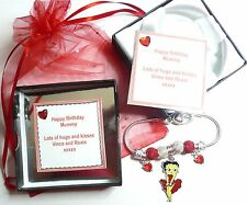 Betty Boop Heart Charm Bracelet +Gift Box Very Romantic Birthday Christmas Gift