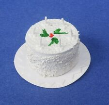 Miniature Dollhouse White Birthday Cake 1:12 Scale New