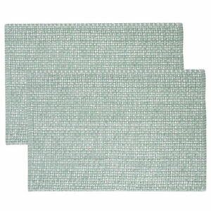 """Trends Collection Two Tone 100% Cotton Woven 13"""" x 19"""" Placemat 2, 4, or 6 Pack"""