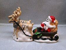 NIGHTMARE BEFORE CHRISTMAS SANTA JACK IN SLEIGH SALT & PEPPER WG AC