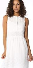 Para Mujeres Vestido En Encaje Levi's Claudia, Corneta blanco tamaño grande Uk 14
