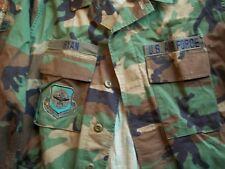 """Golden Mft Mens Med Long Woodland Camo Coat Combat USAF """"Ryan"""" Air Mob Command"""