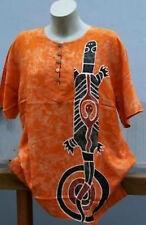 T Shirt Bluse handbemalte Unikate wie Seide Aborigines AUSTRALIEN Echse