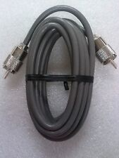 RG-8X Coaxial Cable Jumper 9 Foot with soldered Amphenol™ PL-259 connectors.