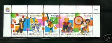 Australia 1752a Children's TV Charactersn  Strip of 5