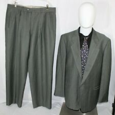 MANI by ARMANI 44R Gray Striped Made in Italy Suit