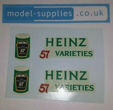 Dinky 923 Heinz Beans Reproduction Waterslide Transfers Set 57 Varieties