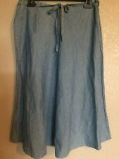 French Cuff Mid A Line Jean Skirt Women's Size 8