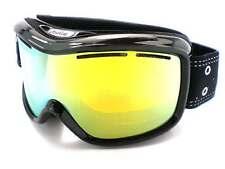 BOLLE MONARCH womens Snowboard Ski Goggles Black Crown/ Citrus Gold Mirror 20555