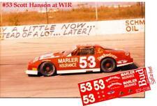 CD_2196 #53 Scott Hanson ARTGO Budweiser Pontiac Firebird     1:25 DECALS