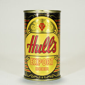 Hull's Brewing Export Beer Flat Top Can New Haven Connecticut 84-24 --MINTY--