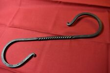 S Hooks Hand Forged Coated with Beeswax  Lindseed Oil Various Sizes From 10 1/4""