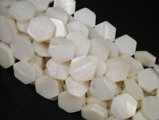 Shell Beads Natural Hexagons 35cm Strand DIY Jewellery Spacers FREE POSTAGE
